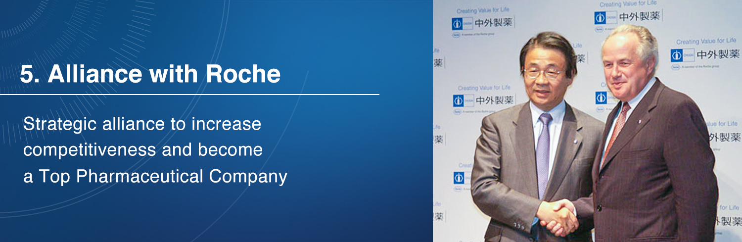 5. Alliance with Roche / Strategic alliance to increase competitiveness and become a Top Pharmaceutical Company